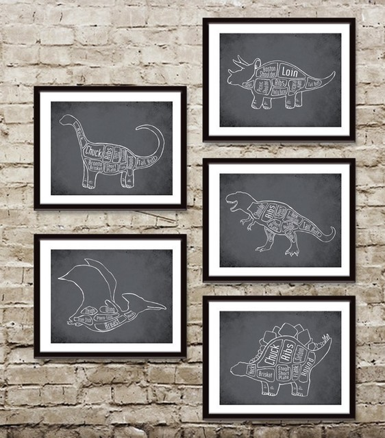 Stegosaurus Dinosaur Butcher Diagram by TheWordShop eclectic artwork