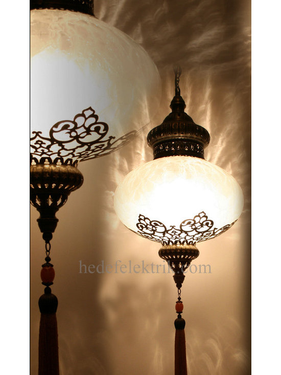 Turkish Style Ottoman Glass Pendant Lighting 32 cm -
