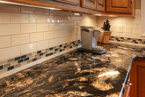 Curly Medley Titanium Granite Countertop