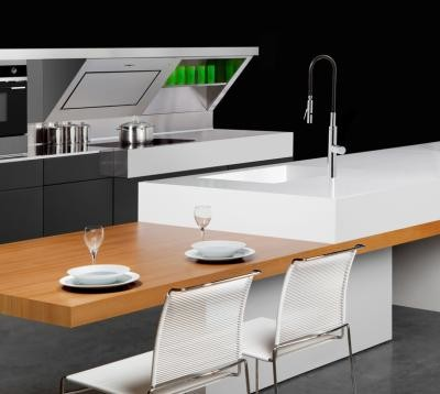 kitchen island with table top extension