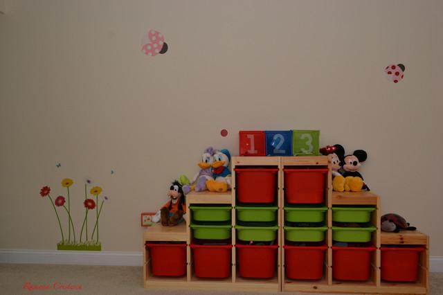 kids bedroom playroom toy storage