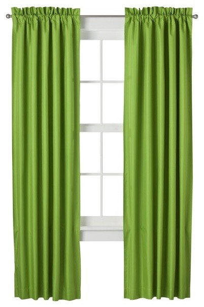 Eclipse Bailey Window Panel - Lime modern curtains
