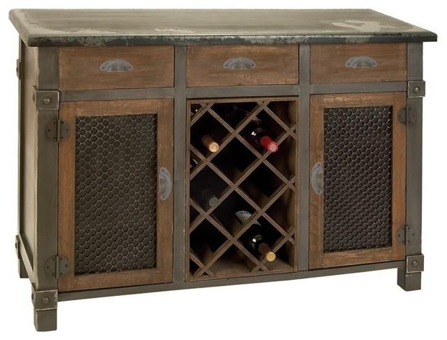 Wood Wine Cabinet Fantastic Bar Decor - Rustic - Storage Cabinets - by Modern Furniture Warehouse