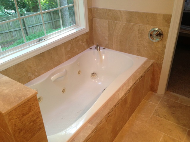 garden tub shower combination modern raleigh by j