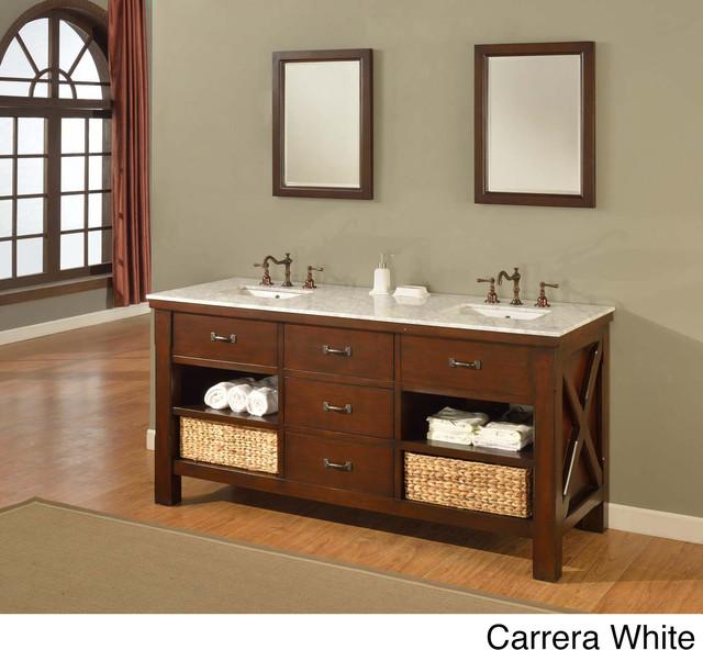 90 Inch Double Sink Bathroom Vanity: 70-inch Espresso Extraordinary Spa Double Vanity Sink