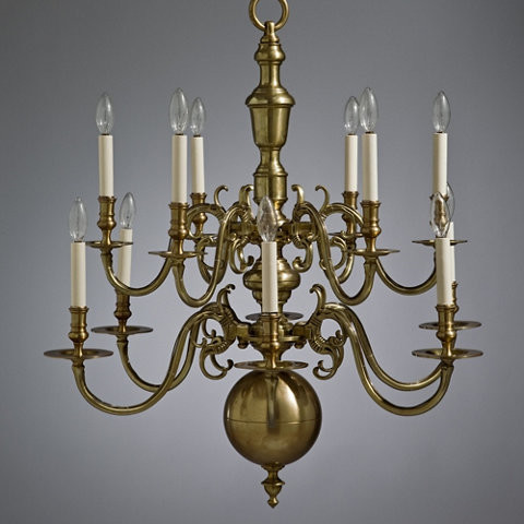 Brass Chippendale Chandelier Traditional Chandeliers