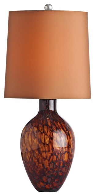 Contemporary Arteriors Home Ty Tortoise Shell Glass Table Lamp contemporary table lamps