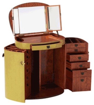 Jade Marie Galante Make Up Trunk eclectic-decorative-trunks