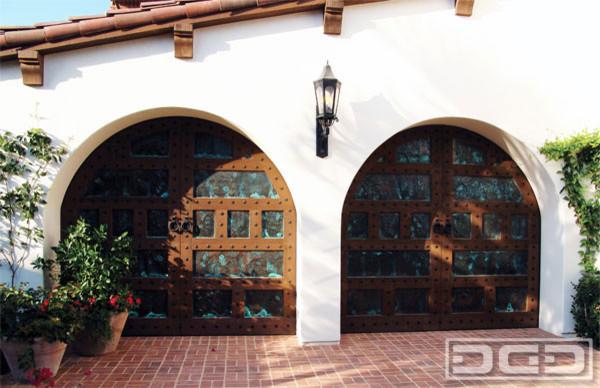 Spanish Style Garage Doors In Santa Barbara CA Traditional Garage