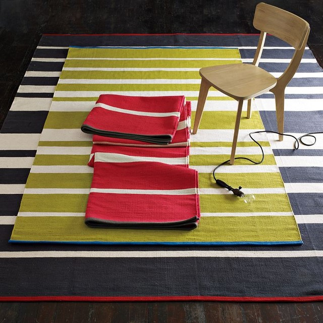 Gradiated-Stripe Cotton Rug modern rugs
