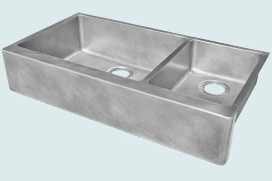 Zinc sink handcrafted metal modern kitchen sinks - Kitchen sinks austin tx ...