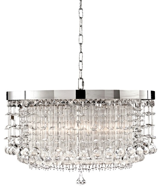 Contemporary Fascination Collection Hanging Shade Crystal Pendant ...
