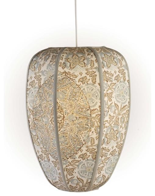 Jamie Young Co. Raj Pendant in Medallion Cotton traditional-pendant-lighting