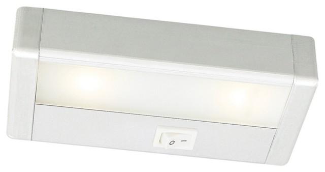 "WAC LED 8"" Wide Satin Nickel Under Cabinet Light Bar modern-kitchen-lighting-and-cabinet-lighting"