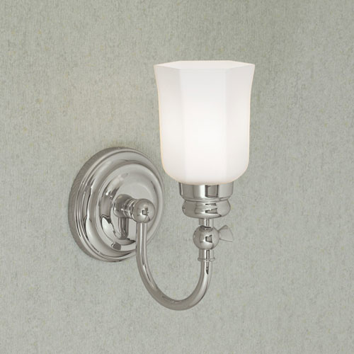 Modern Chrome Wall Sconces : Emily Chrome Single Light Wall Sconce - Modern - Wall Sconces - by Bellacor