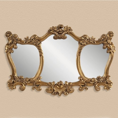 Antiqued Gold Ornate Mirror - 55W x 36H in. traditional-mirrors