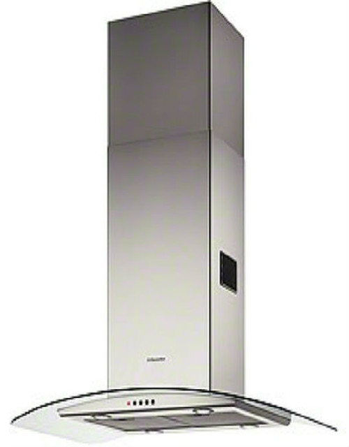 Electrolux EFA90245X Island hood in stainless steel and curved glass contemporary-range-hoods-and-vents