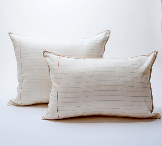 Lined Paper Pillow by Pi'lo contemporary-decorative-pillows