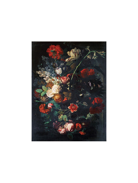 Vase with Flowers on a Socle | Huysum | Canvas Print - Condition: Canvas Print - Unframed