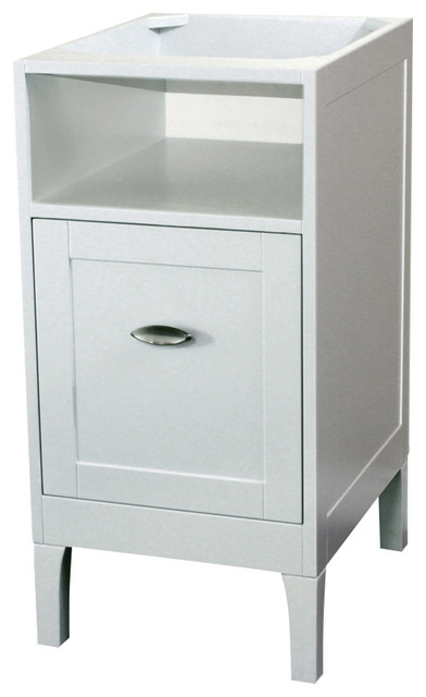 16 Inch Cabinet Wood White Modern Bathroom Vanities And Sink Consoles By Corbel Universe