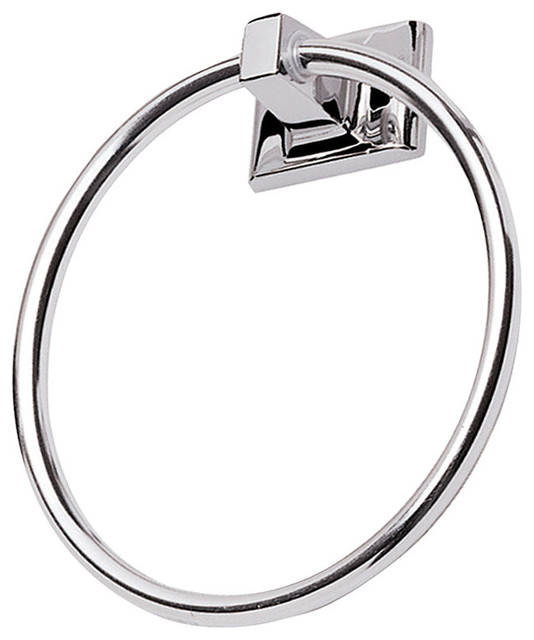 Sunset Series Bathroom Collection Polished Chrome Towel Ring Transitional Towel Rings By