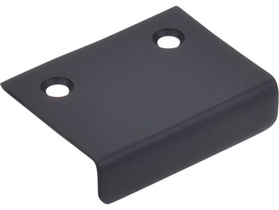 """Tab Pull 2"""" - Flat Black - Modern - Cabinet and Drawer Handle Pulls - by Knobs and Beyond"""