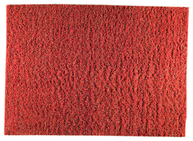 Mat the basics tokyo red and orange shag rug modern for Modern rugs los angeles