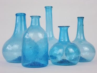 Vintage Decorative Blue Bottle eclectic vases