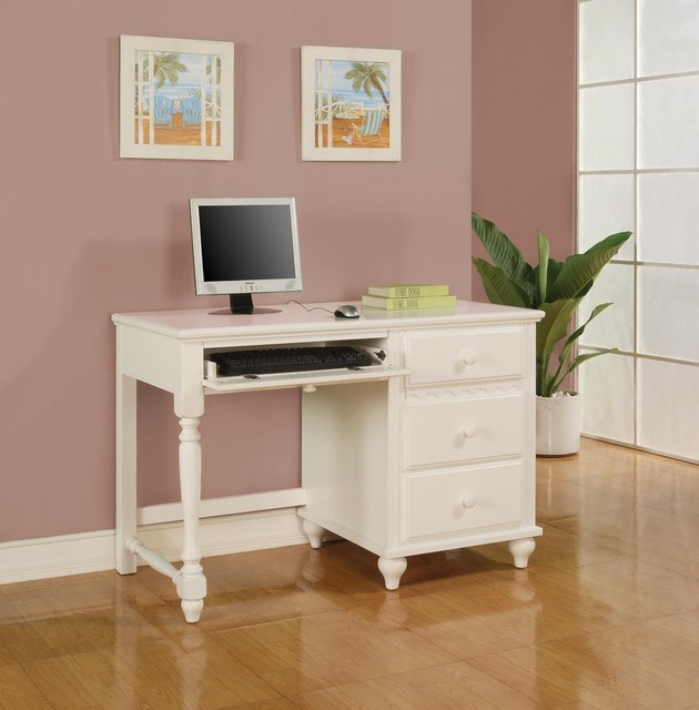 Kids White Desk with Drawers 630 x 640