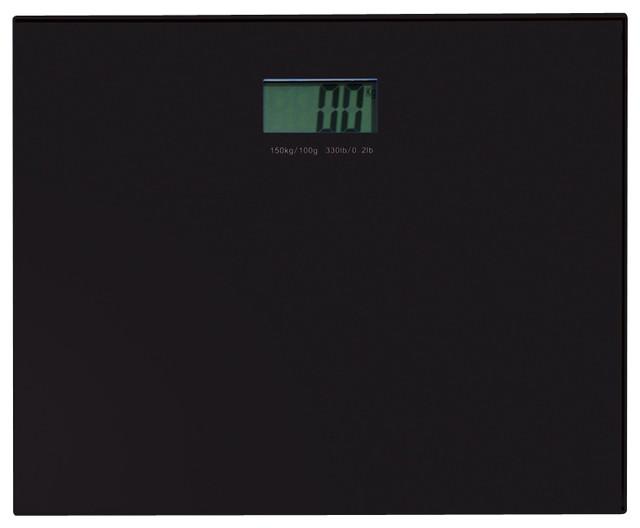 Square Black Electronic Bathroom Scale contemporary-bathroom-scales