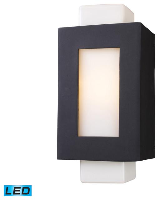 Contemporary Black Wall Sconces : Sundborn LED 1-Light Sconce in Matte Black contemporary-wall-sconces