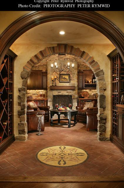Killer Basement - Mediterranean - Wine Cellar - new york - by Carisa Mahnken Design Guild