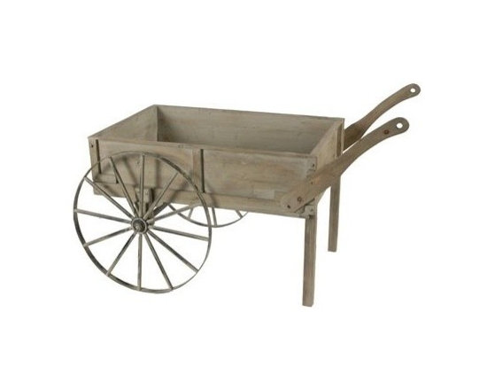 Objet d'art - Decorative Accessories - This vintage looking wheelbarrow is affordable art for the home. Beautifully distressed with attention to detail, this piece will work great in a home entrance. To add extra styling, you can fill it with items such as dried flowers or even vintage books.