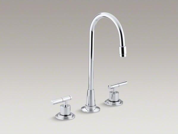Kohler Bar Faucet : KOHLER Taboret(R) three-hole bar sink faucet, requires handles ...