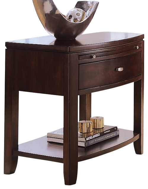 American Drew Tribecca Leg Nightstand in Root Beer Color traditional-nightstands-and-bedside-tables
