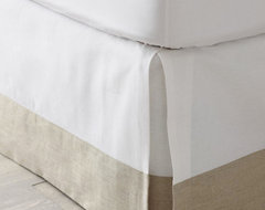 Linen-trimmed Box-pleated Bedskirt traditional-bedskirts