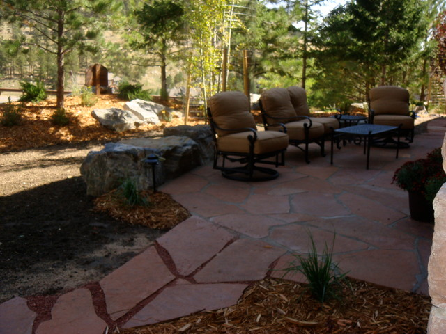 Patios rock work traditional outdoor rocking chairs for Outdoor furniture denver
