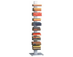 Array Silver Bookcase modern-bookcases