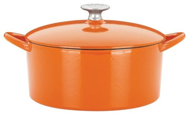 Mario Batali by Dansk Classic 2 Cup Mini Dutch Oven - Persimmon contemporary-dutch-ovens-and-casseroles
