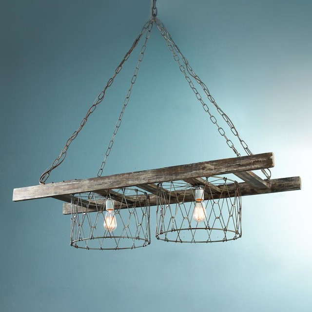 Rustic Ladder Island Chandelier Chandeliers By Shades