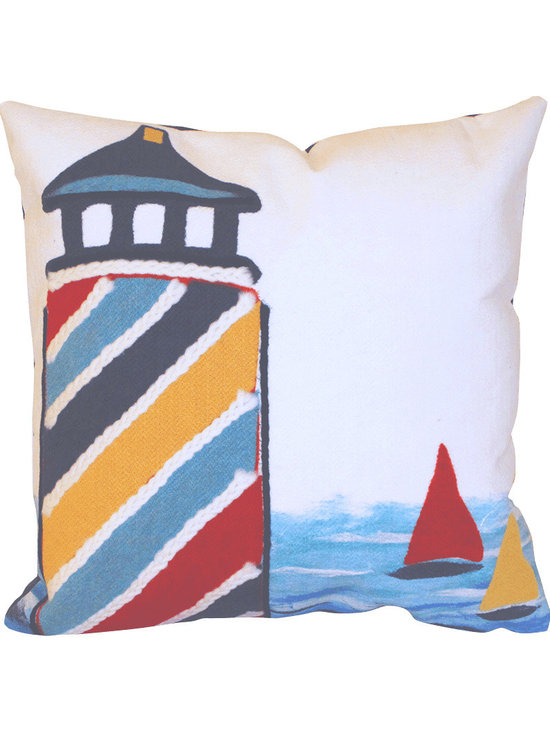 Liora Manne Lighthouse Throw Pillow
