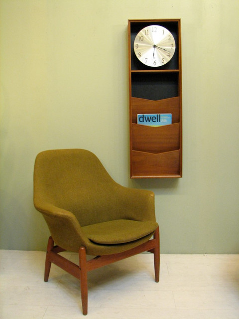 Vintage Howard Miller Clock + Magazine Rack eclectic-clocks