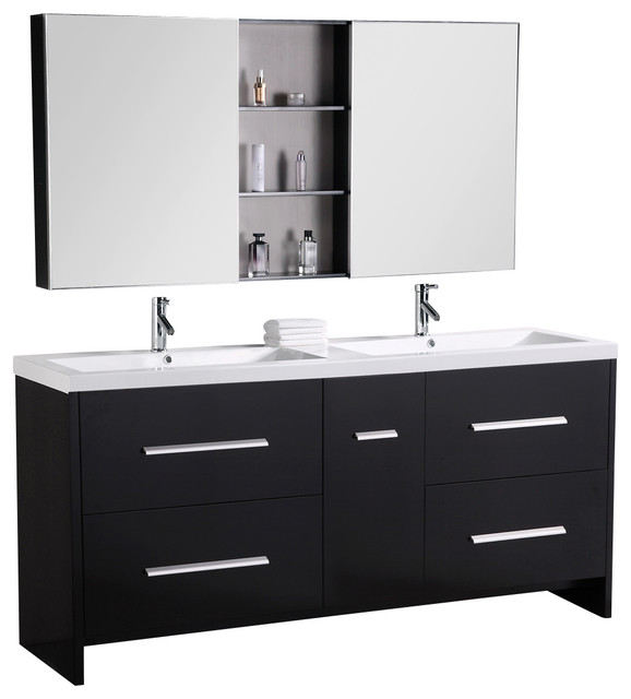Bathroom Sink Consoles : Double Sink Bathroom Vanity modern-bathroom-vanities-and-sink-consoles