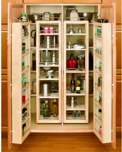 "Rev-A-Shelf 57"" Swing Out Pantry Kit traditional-pantry"