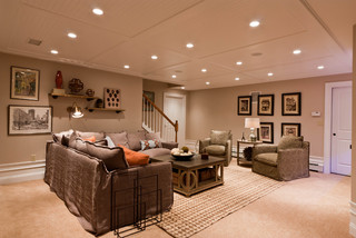 Ordinaire Basement Renovation Ideas Ceiling Tiles ...
