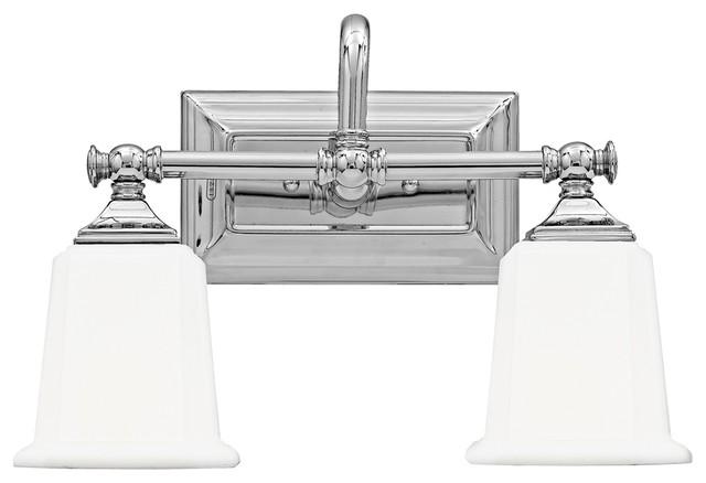 "Country - Cottage Nicholas Collection Polished Chrome 15"" Wide Bathroom Light traditional-bathroom-lighting-and-vanity-lighting"