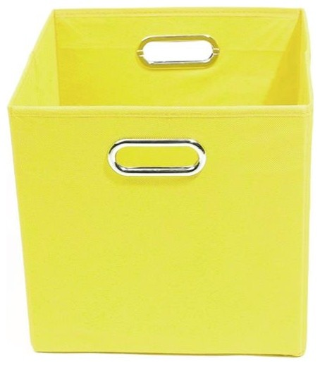 sweets solid yellow folding storage bin modern storage. Black Bedroom Furniture Sets. Home Design Ideas