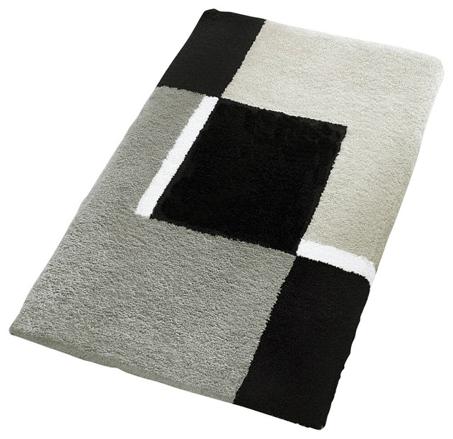 oversized bath rug gray contemporary bath mats other metro by