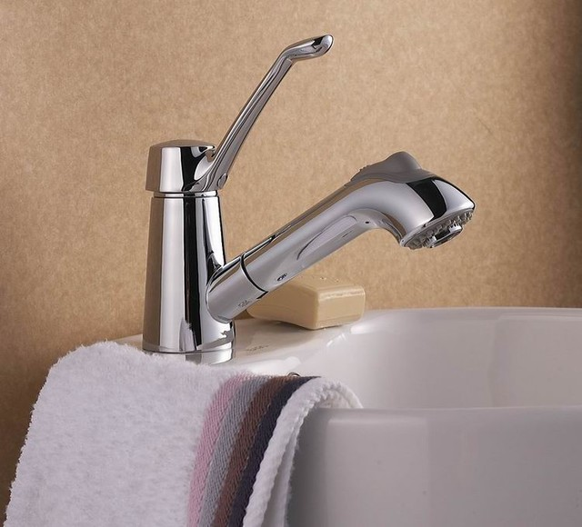 Modern Design Single Handle Bathroom Pull Out Faucet DL-4602 modern-bathroom-faucets