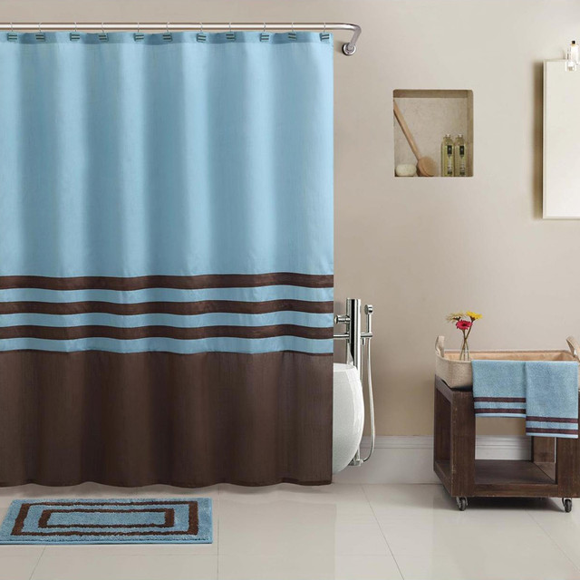 Teal And Brown Shower Curtain A Plus Design Reference